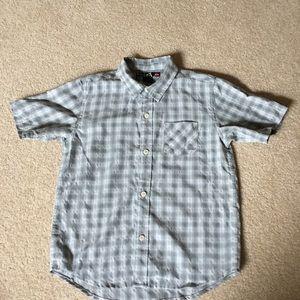 Quiksilver Light Blue Button-down shirt x-large/7x
